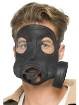 Gas Mask Black Rubber [24211]