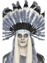 Adult Deluxe Ghost Town Indian Headdress [25482]