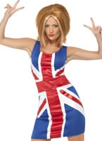 Adult Ginger Spice Girl Union Jack Costume [29540]