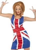 Adult Ginger Spice Girl Union Jack Costume [29540]