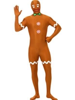 Adult Gingerbread Man Second Skin Costume
