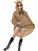 Giraffe Party Poncho Festival Costume