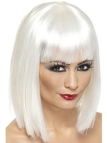 Glam Wig White Short