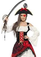 Adult Glamorous Lady Pirate Costume [23281]