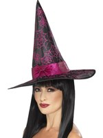 Glitter Cobweb Witch Hat [45097]