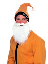 Gold Santa Hat & Beard Set