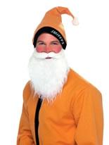 Gold Santa Hat & Beard Set [22692]