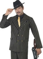 Adult Gold Pinstripe Gangster Costume [22414]