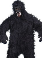 Gorilla Costume Black Fur Fabric
