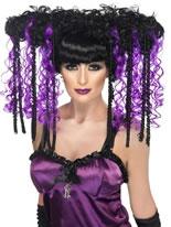 Gothic Emo Purple Wig [37557]