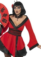 Gothic Geisha Woman Costume [33021]
