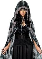 Adult Gothic Manor Ghost Cape [34484]