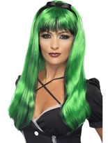 Green and Black Bewitching Wig