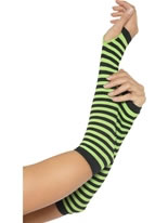 Green and Black Striped Glovettes [28321]
