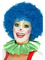 Green Clown Neck Ruffle