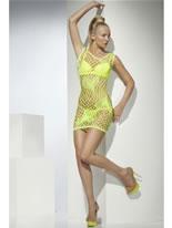 Green Heart Pattern Clubwear Dress