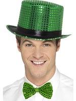 Green Sequin Top Hat