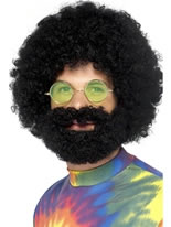 Groovy Dude Afro Wig and Beard [43230]