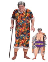 Adult Groping Granny Costume