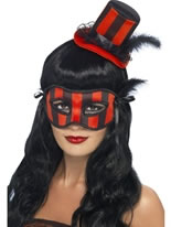 Grotesque Burlesque Hat & Eyemask Set