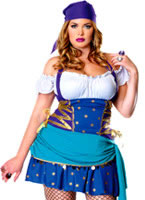Adult Plus Size Gypsy Princess Costume