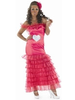 Adult Gypsy Wedding Pink Bridesmaid Costume