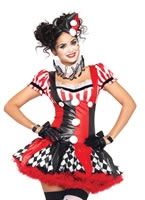 Adult Harlequin Clown Costume