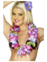 Hawaiian Lei Purple And Pink [28975]
