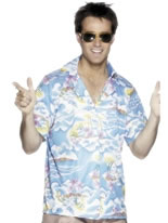 Adult Blue Hawaiian Shirt [25259]