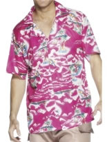 Adult Pink Hawaiian Shirt [22591]