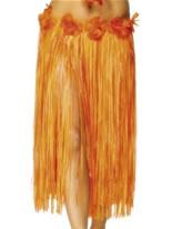 Adult Hawaiian Skirt Red & Orange [28970]