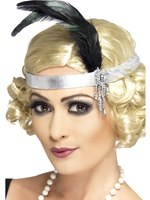Headband Charleston Silver Satin