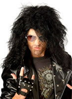 Heavy Metal Rocker Black Wig