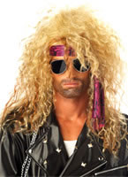 Heavy Metal Rocker Blonde Wig [70544]