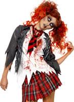 Adult Zombie School Girl Costume [32929]