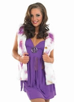 Adult Purple Hippie Costume with Waistcoat