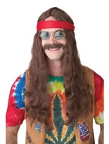 Hippie Man Wig and Moustache [70666]