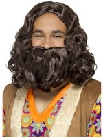 Hippie/Jesus Wig and Beard Set [43069]
