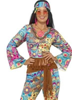 Adult Hippy Flower Power Costume