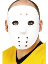Hockey Face Mask White Pvc [1874]