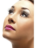 Holographic Eyelashes Silver Black