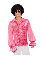 Hot Pink 60's Ruffled Shirt [62012]