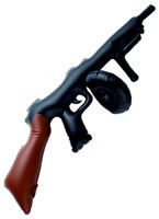 Inflatable Black Tommy Gun