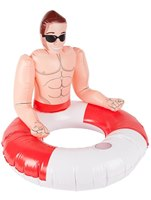Inflatable Lifeguard Hunk Swim Ring [50885]