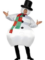 Adult Inflatable Snowman Costume [38155]