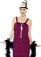 Adult Burgundy Jazz Flapper Costume