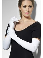 Jersey Gloves White Fabric
