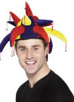 Jesters Hat Red Yellow Blue Velour [22372]