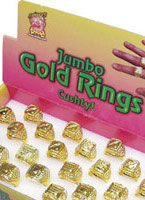 Jumbo Size Rings Gold