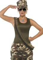 Adult Khaki Camo Army Costume